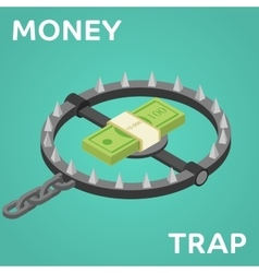 Money trap flat vector image vector image
