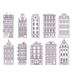 old europe houses and homes set vector image vector image