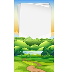 paper template with park background vector image