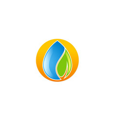 water droplet ecology logo vector image vector image
