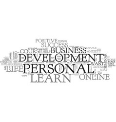 What you can learn about personal development vector