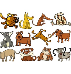 cartoon dogs or puppies big set vector image vector image