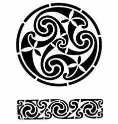 Celtic design works vector image
