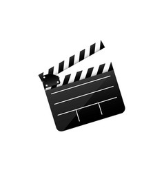 color clapper board film icon vector image