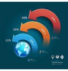 Environmental infographic with global map vector image vector image