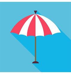 Flat Beach Umbrella with Long Shadow vector image