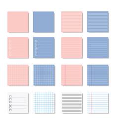 memo paper note variation design vector image