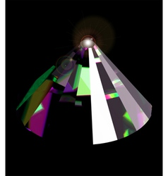 Shiny and bright crystal vector image