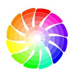 Color wheel from arrows vector