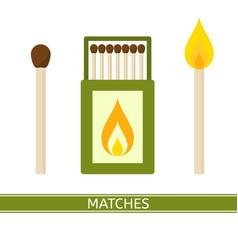 matches box icon vector image