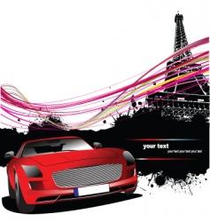 Paris silhouette vector image vector image