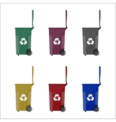 Recycling bins containers for garbage vector image