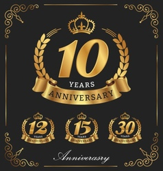 10 Years Anniversary decorative logo vector