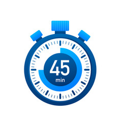 45 minutes stopwatch icon stopwatch icon in vector