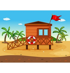 A lifeguards house vector