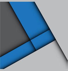 Abstract blue arrow gray modern vector