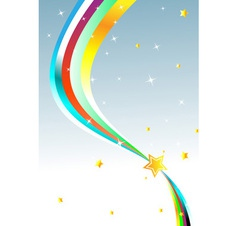 Abstract rainbow Background vector image vector image