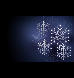 abstract silver snowflakes background vector image