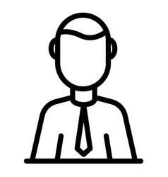 Administrator icon outline style vector