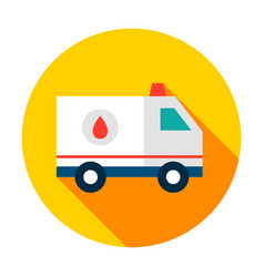 ambulance circle icon vector image