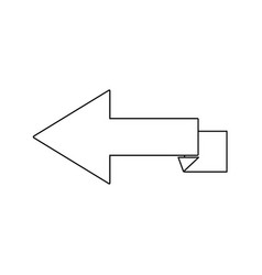 Arrow direction internet location side icon vector