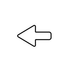 arrow points to the left line icon vector image