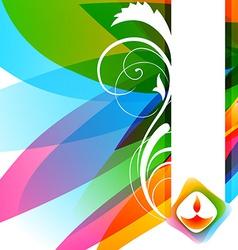 Attractive background diwali vector