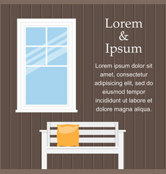 background with window vector image