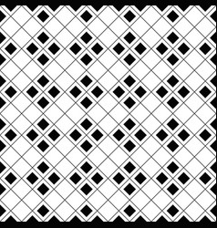 black and white seamless square pattern background vector image