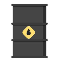 black metal oil barrel isolated liquid tank vector image