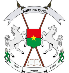 burkina faso national emblem vector image