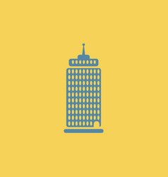 Business center building tower vector