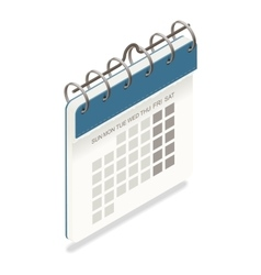 Calendar detailed isometric icon vector image