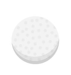 cartoon golf ball isolated vector image