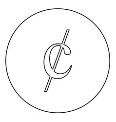 Cent symbol sign dollor money icon in circle vector