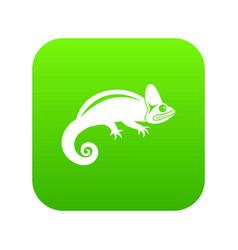 chameleon icon digital green vector image
