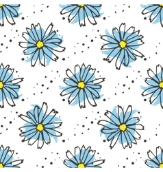 Chamomile tea seamless pattern Organic herbal hot vector image