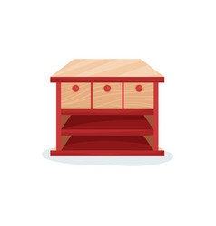 chest of drawers interior design element vector image
