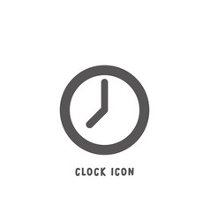 clock icon simple flat style vector image