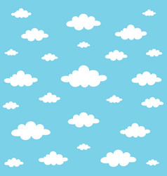 Clouds background vector
