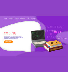 Coding and programming lessons computer science vector