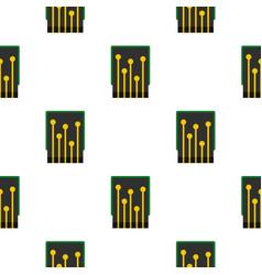 Computer processor pattern flat vector