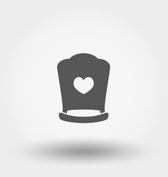 Crib icon silhouette flat vector