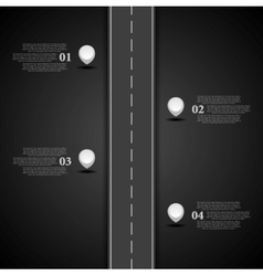 Dark road infographics design vector