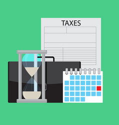 Date day calendar of payment of taxes vector