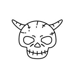 devil man icon doodle hand drawn or black outline vector image