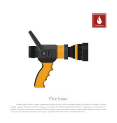Fire hose on a white background vector