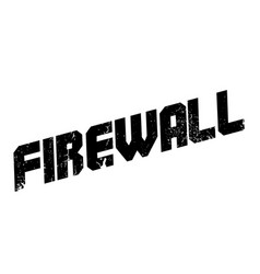 firewall rubber stamp vector image