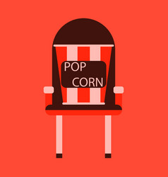 Flat icon popcorn cinema vector