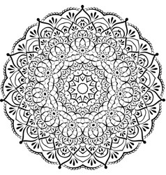 Floral round lace mandala vector